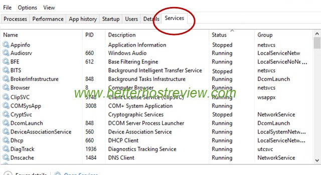 How to manually start or stop a service from Windows Task Manager? – Better  Host Review