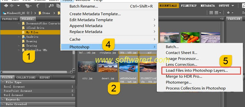 Add images as layers in Photoshop