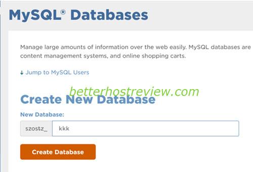 Create a MySQL DB in cPanel