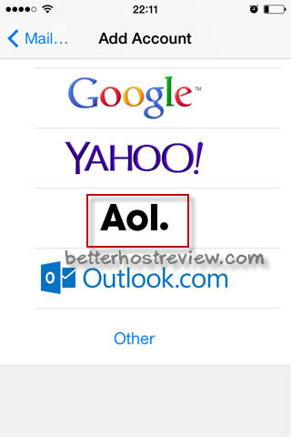 Add AOL Email Account to iPhone – Better Host Review