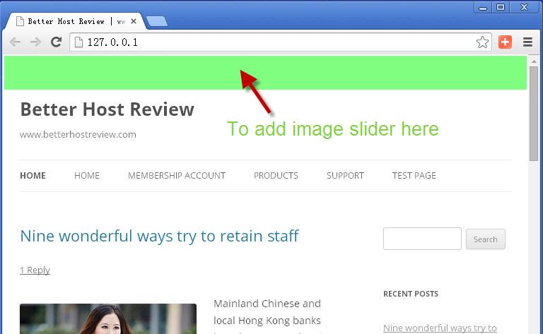 Add Image Slider To Wordpress Header Better Host Review