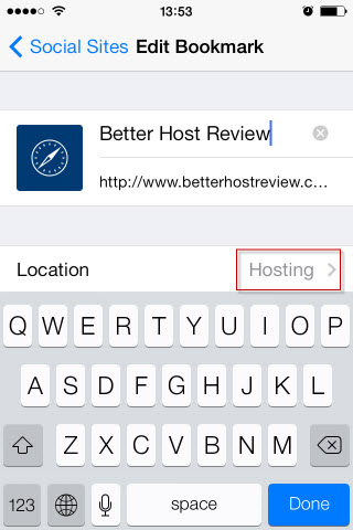 How to move bookmarks into a folder on ipad