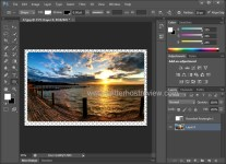 create rounded corners via layers in photoshop