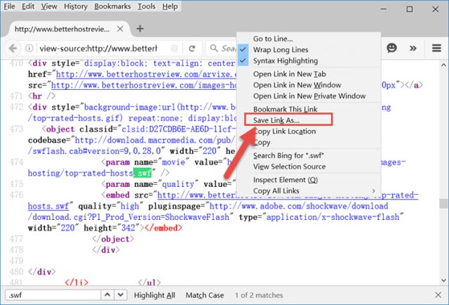 Save flash in firefox and ie.