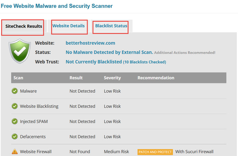 Free Malware Scanner Website