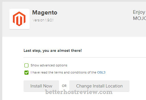 install magento automatically on Bluehost server