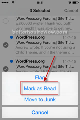 Mark All Emails as Read on iPhone - Better Host Review