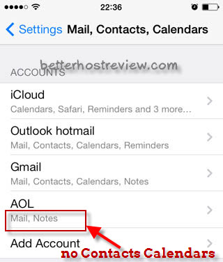 AOL Contacts to iPad iPhone – Better Host Review
