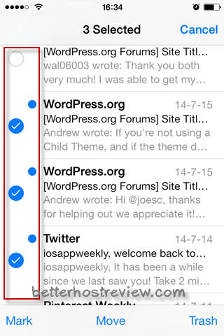 how to select all emails on iphone all emails as read on iphone better host review 7163