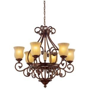 Hampton Bay Freemont 6 Light Chandelier In Antique Bronze
