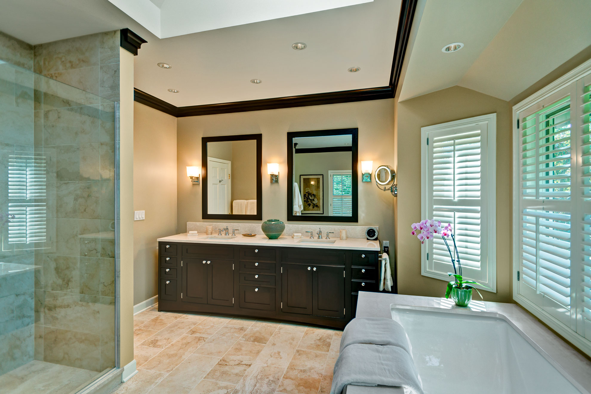 Transitional Spa Bathroom Barrington IL Better Kitchens