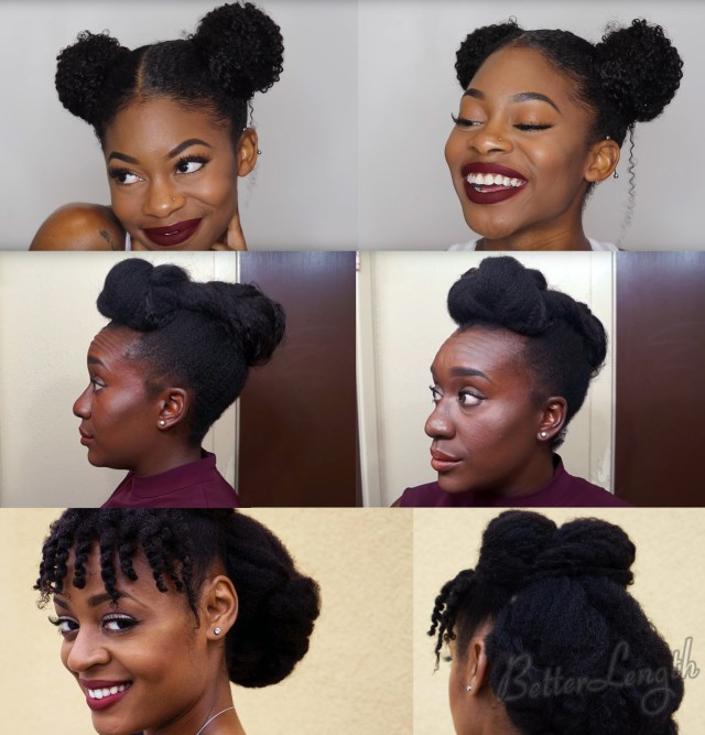 top 6 quick & easy natural hair updos | betterlength hair