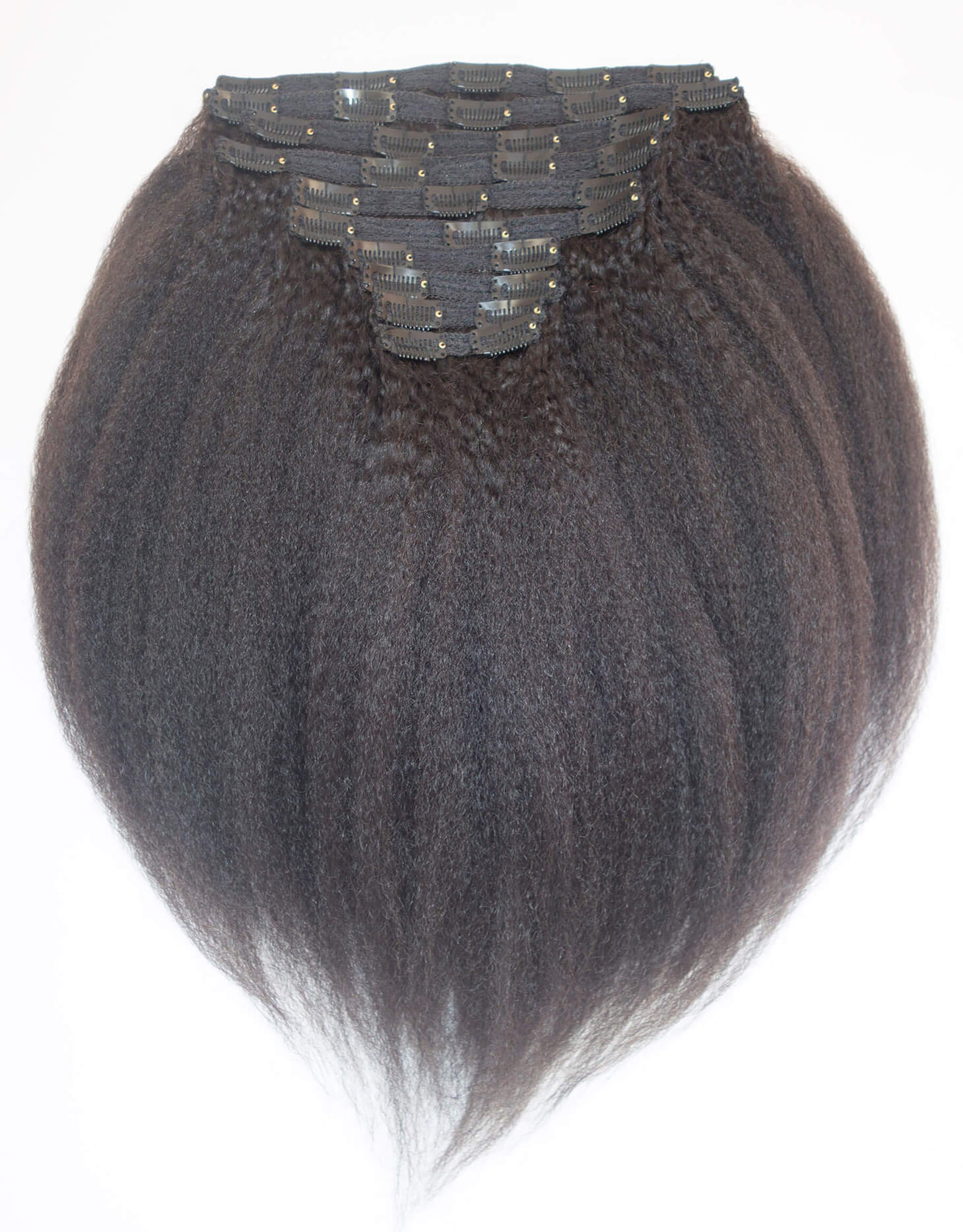 Kinky Coarse Clip In Hair Extensions Natural Hair Blow