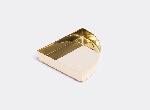 'Quarter circle' tray, brass