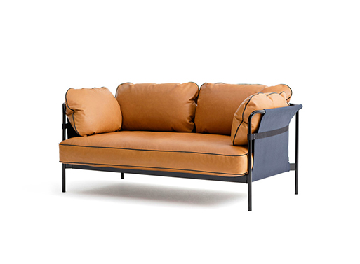 2-seater Can Sofa by Ronan and Erwan Bouroullec