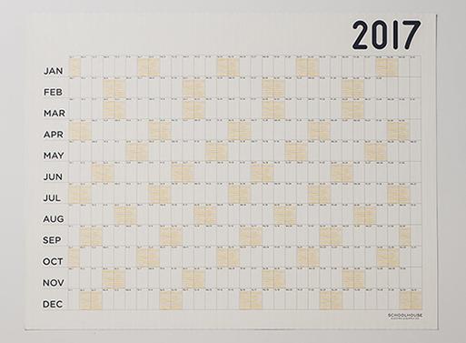 Calendar 2018 Egg Press x Schoolhouse Big Picture