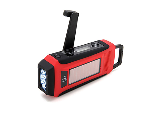 Epica Digital Emergency Solar Hand Crank AM/FM/NOAA Radio, Flashlight, Smartphone Charger