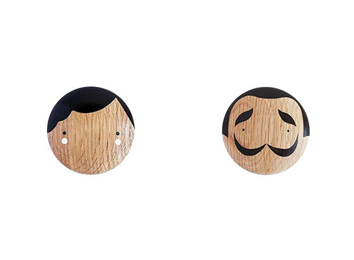 Wooden Wall Hooks by Sketch.inc for Lucie Kaas