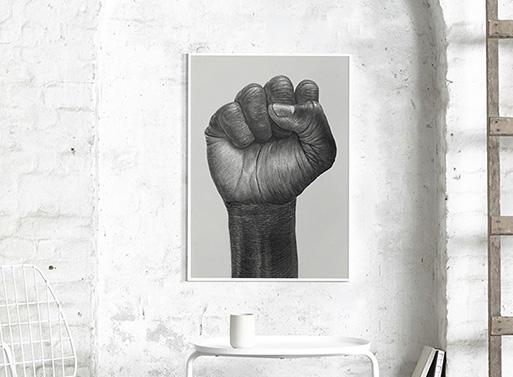 Raised Fist Poster by Paper Collective & Børge Bredenbekk