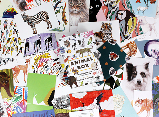 Animal Box 100 Postcards by 10 Artists
