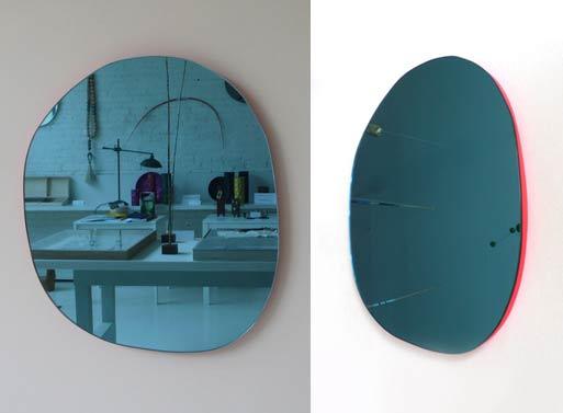 Irregular Round Mirror Pink mc&co
