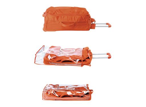 Foldable wheeled duffle orange<