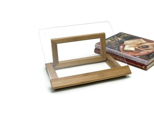 Lipper International Bamboo and Acrylic Cookbook Holder