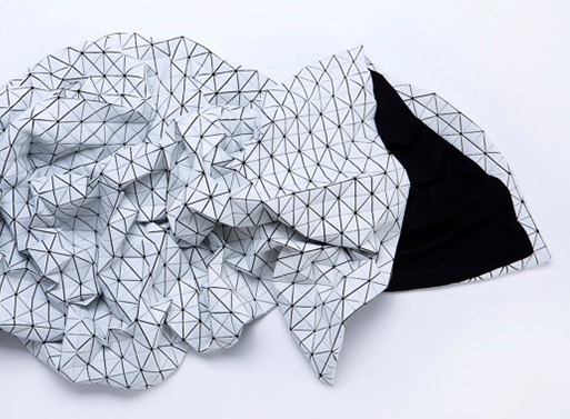 Black and White Origami Geometric Throw by Mika Barr