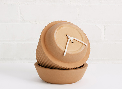 Pleated Planter self wicking