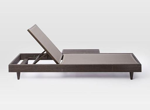 Portside Low Textilene Chaise Lounger