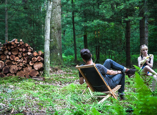 Travel Chair outdoors