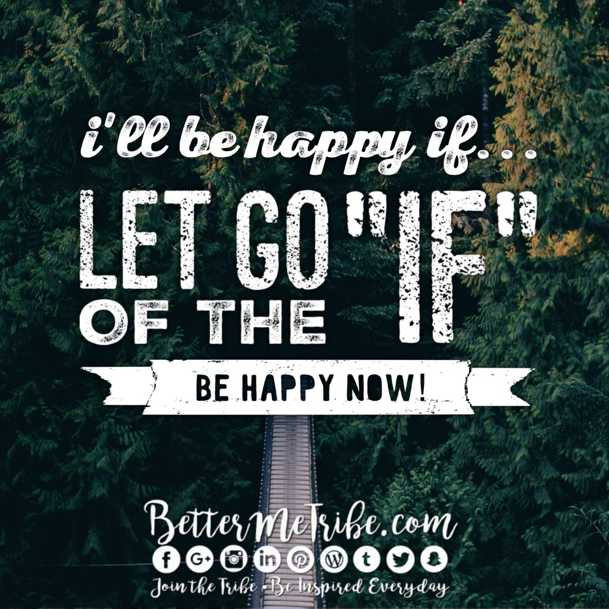 "Let go of ""If"""