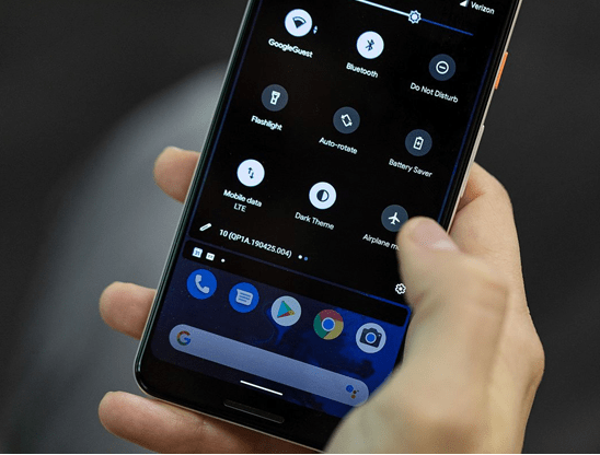 Android Q on your cell phone