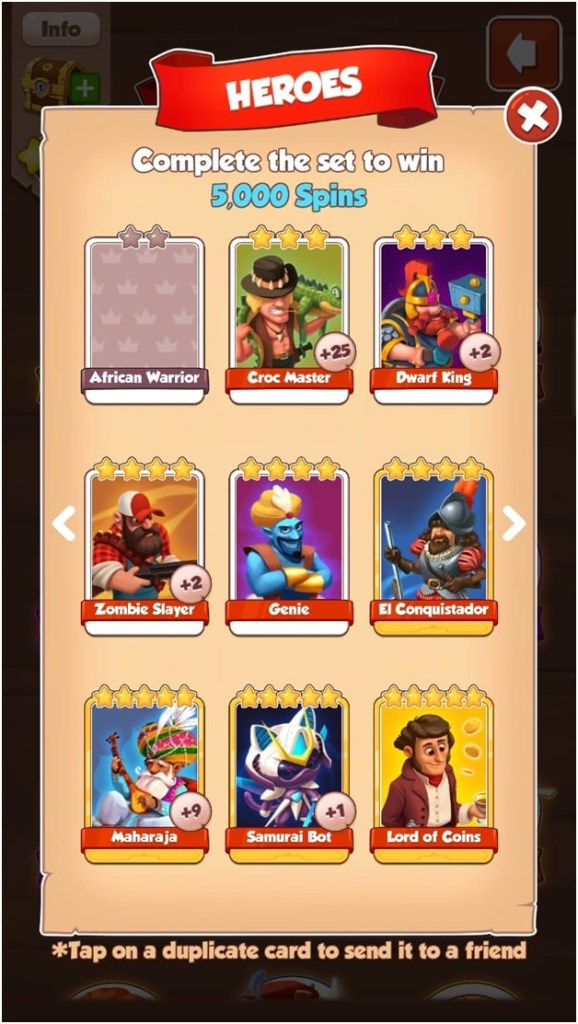 How to get free cards in Coin Master