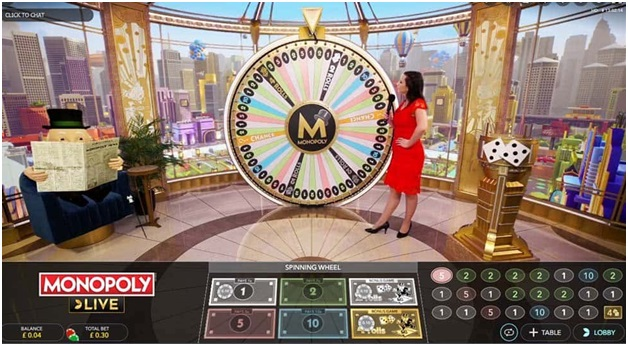 Live Casino Games - Monopoly Live