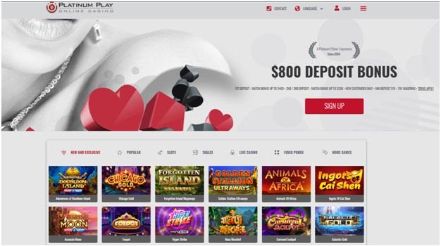 Platinum Play Canada Casino