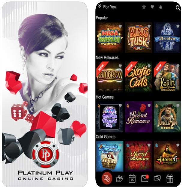 Platinum play mobile app