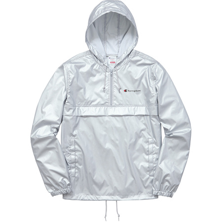 Supreme®/Champion® Half Zip Windbreaker (Silver)