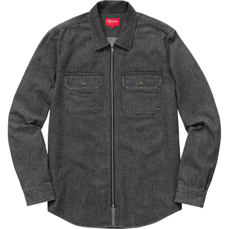Denim Zip Shirt (Black)