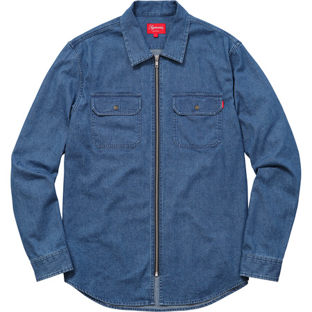 Denim Zip Shirt (Blue)