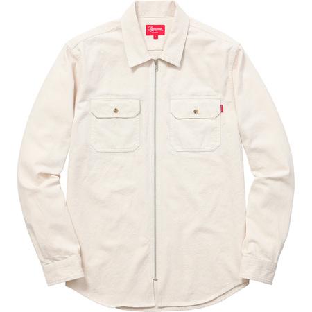 Denim Zip Shirt (Off White)