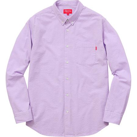 Tonal Seersucker Shirt (Lavender)
