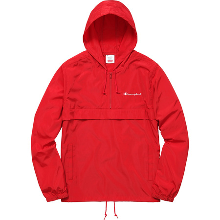 Supreme®/Champion® Half Zip Windbreaker (Red)