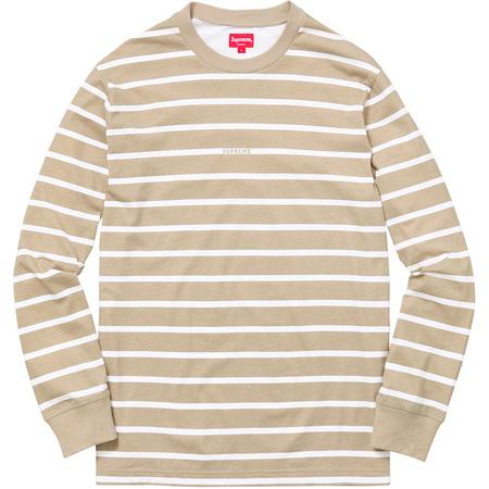 Printed Stripe L/S Top (Tan)