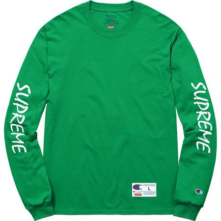 Supreme®/Champion® L/S Tee (Green)