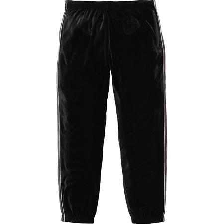 2-Tone Velour Pant (Black)