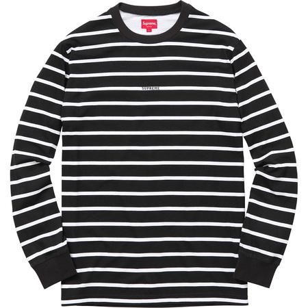 Printed Stripe L/S Top (Black)