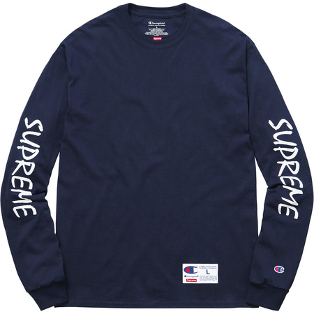 Supreme®/Champion® L/S Tee (Navy)