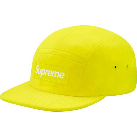 Neon Velour Camp Cap (Bright Yellow)