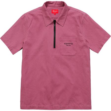 Twill Half Zip Shirt (Red)